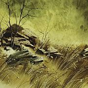 """Rock Pile"" Original Watercolor Signed By Artist"