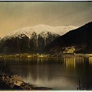 """Lights of Juneau"" Rare Alaskan Photograph by Winter & Pond Studios"