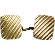 Victorian Hayward Gold Filled Cufflinks with Banded Design on Both Sides