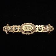 SALE PENDING Victorian Rose Gold Intricate Design Bar Pin Brooch