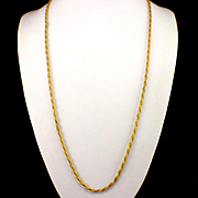 "SALE Gorgeous Heavy 32"" Gold Filled Rope Chain"