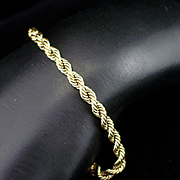 Vintage Heavy 14k Rope Bracelet for Men or Women 15.2 grams