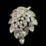 SALE Gorgeous Signed Weiss Layered Rhinestone Brooch Pin