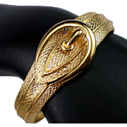 Early Avon Designed Gold Tone Buckle Bracelet