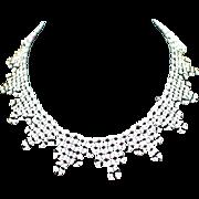 Unique Retro Woven Glass Bead Collar Choker Necklace