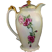 Chocolate Pot Artist Signed and Dated 1910