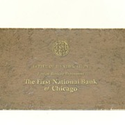 Letter of Identification The First National Bank of Chicago June 1, 1950