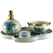 SALE Ladies Boudoir or Dresser Set Limoges and Favorite Bavaria