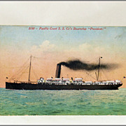 "Pacific Coast Steamship Company Steamship ""President"" 3150"