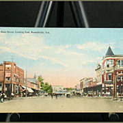 Main Street Looking East Russellville, Ark. C. T. Art Colortone