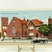 Vintage Post Card Methodist Church Tucson Arizona c. 1918