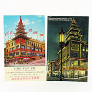 Sing Fat Co. Chinese Bazaar Post Cards Ca. 1920's