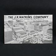 J. R. Watkins Company Advertising Post Card Circa 1939
