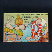 Metropolitan Comic Post Card Artist Signed Free Franking Ca. 1943