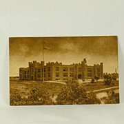 Vintage San Diego High School Sepia Toned Post Card