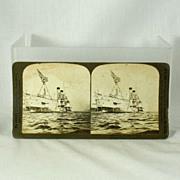 H.C. White Stereoview 7407 of Cruiser Chicago, U.S.N. C. 1901
