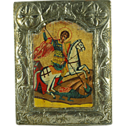 SALE St. George and The Dragon Religious Icon