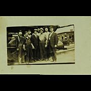 SALE Steam Locomotive Crew Real Photo Post Card