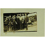 SALE Steam Locomotive Crew Real Photo Post Card