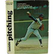 SALE Inside Pitching by Ferguson Jenkins w/Dust Jacket 1972