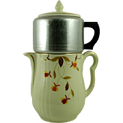 Hall's Autumn Leaf Rayed 8 Cup Coffee Pot With Dripper