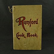 Rumford Cook Book by Fannie Merritt Farmer