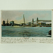 H. M. Dock Yard With Bermuda Stamp and 1905 Post Mark