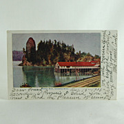 Undivided Post-Card of Rooster Rock on the Columbia River