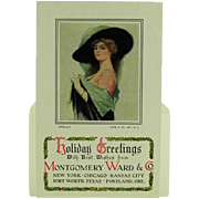 SALE Montgomery Ward & Co. Holiday Greetings Advertising Post Card