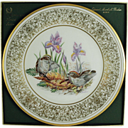 SALE Lenox Limited Edition Boehm Birds Plate c. 1979 Golden Crowned Kinglet  (ON SALE)