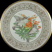 SALE Lenox Boehm Birds Eastern Phoebes 1981 Plate (NOW ON SALE)