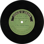 International Mutoscope Voice-O-Graph Vinyl Disc c. 1951 (SALE)