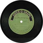 SALE Voice-O-Graph International Mutoscope Vinyl Disc (SALE)