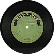 SALE International Mutoscope Voice-O-Graph Vinyl Disc c. 1951 (SALE)