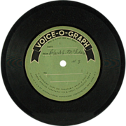 SALE Mutoscope Corporation Voice-O-Graph Vinyl Disc  (SALE)