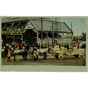 SOLD Mardi Gras The Royal Chariot With Rex Phostint Post Card