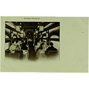 Burlington Route Dining Car Post Card