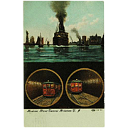 SOLD Hudson River Tunnel Hoboken New Jersey Post Card