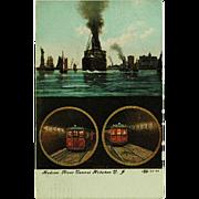 SOLD Hudson River Tunnel Hoboken New Jersey Post Card