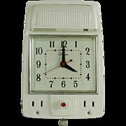 Telechron Clock Model 1901 Tel-In-Wall in White