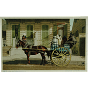 SOLD New Orleans Milk Cart Phostint By Detroit Publishing Company