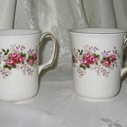 SOLD Royal Albert - Lavender Rose Ribbed Mugs (2)
