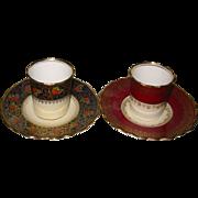 SOLD Aynsley - Demitasse Tea/Coffee Can Sets (2)