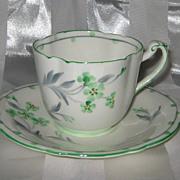 SALE Royal Paragon - Green Posie - Teacup Set ca1930