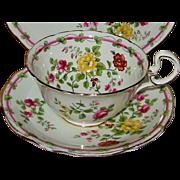 SALE Aynsley - Teacup Set & Snack Plate