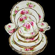 SOLD Royal Albert -American Beauty - 4 Place Settings (20pcs)