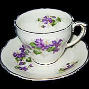 SALE Duchess - Violets - Teacup Set