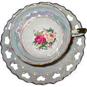 SOLD Vintage Teacup Set - Rose Bouquets