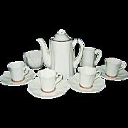 SALE Paragon - White Floral - Coffee Pot, Demitasses ++ ca1935