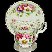 SOLD Royal Albert - Flower of the Month October - Teacup Set